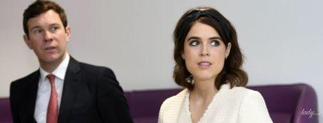 В светлом мини-платье: принцесса Евгения появилась на публичном мероприятии вместе с мужем