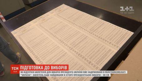 90% бюлетенів для виборів президента України вже надруковано