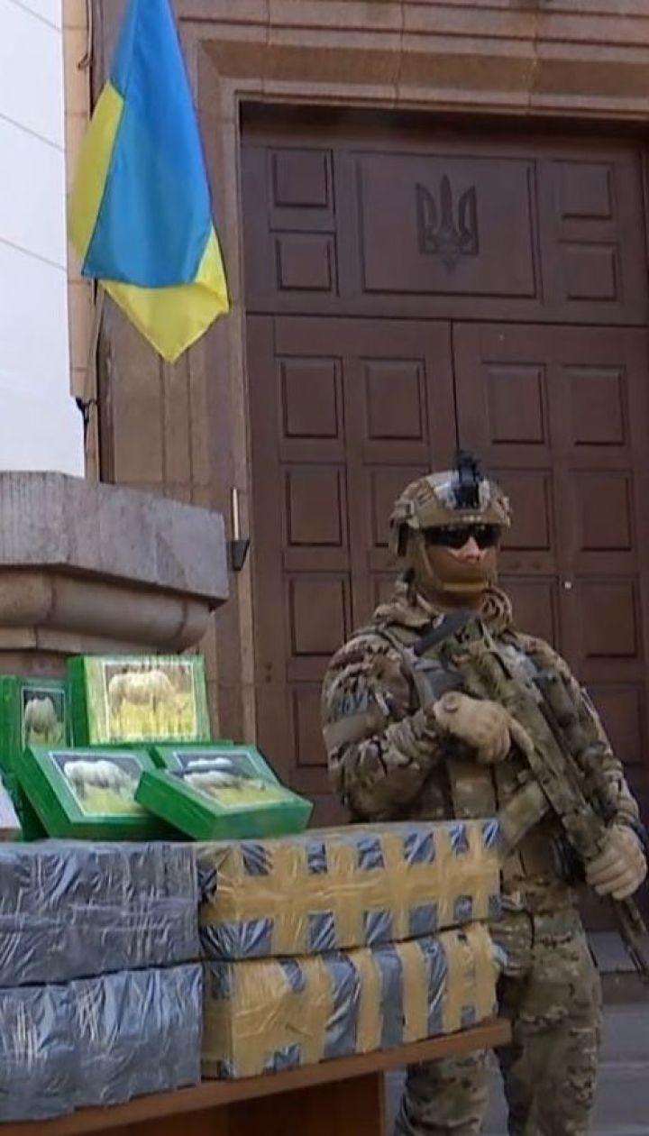 Рекордных 257 килограммов кокаина нашли в порту Одесской области