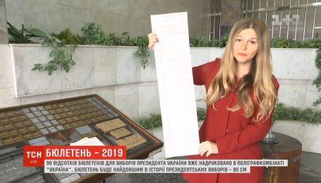 Бюллетень для выборов-2019 будет самым длинным в истории президентских выборов Украины