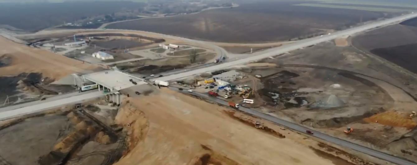 Строительство важной развязки на Полтавщине показали на видео