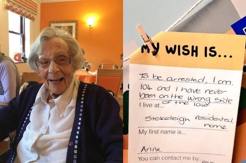 записка бажання пенсіонерка