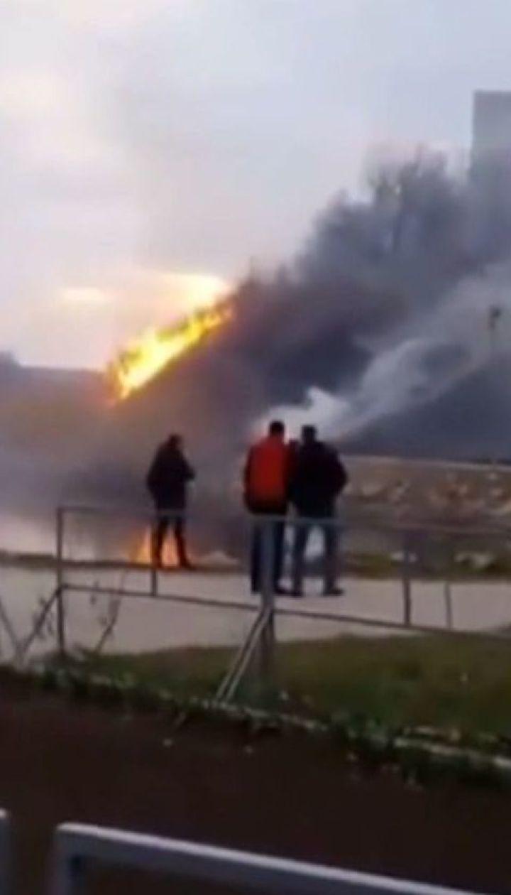 В запорожском парке стремительно вспыхнул пожар