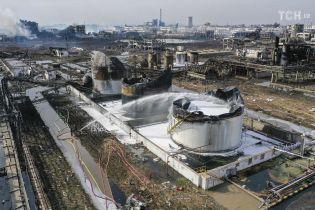 Взрыв на китайском химзаводе убило 64 человек