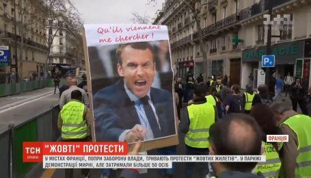 """Протесты """"желтых жилетов"""" во Франции возобновились, несмотря на запрет властей"""