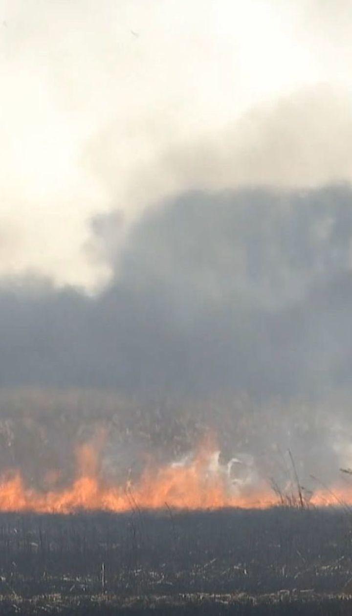 Масштабна пожежа сталась на околиці Рівного