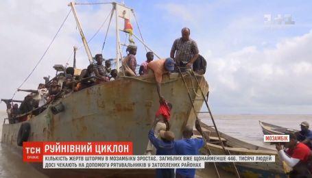 """Загиблих унаслідок циклону """"Ідай"""" у Мозамбіку вже 446"""