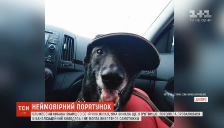 В Днепре служебная собака нашла женщину, которую искали двое суток