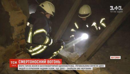 В Житомире при пожаре в одноэтажке погибли два человека