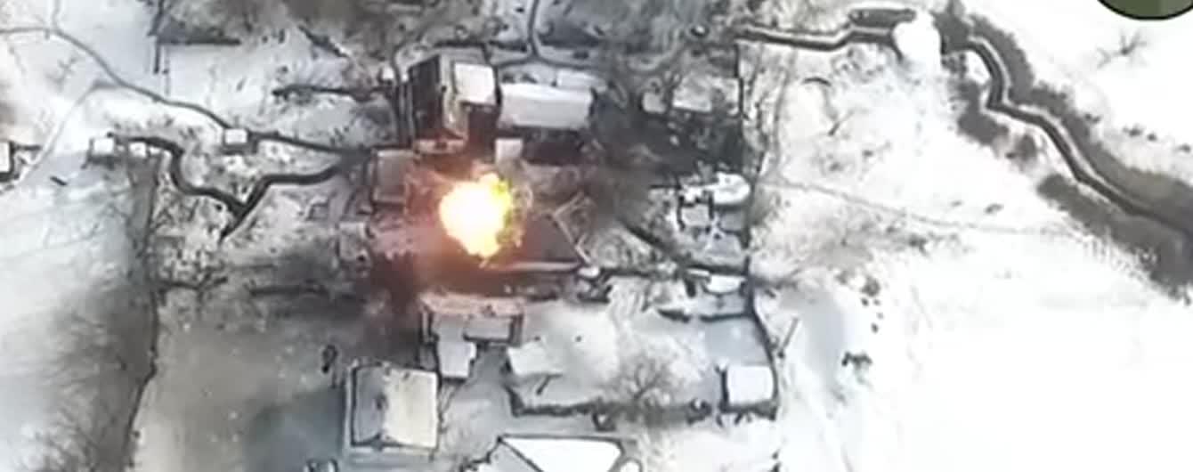 Волонтер обнародовал видео уничтожения командного пункта боевиков на Луганщине – шестеро оккупантов погибли