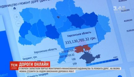 Отслеживать строительство и ремонт украинских дорог теперь можно в режиме онлайн