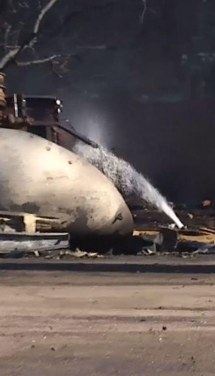 Під час пожежі на газовій заправці у Кропивницькому згоріли 18 авто
