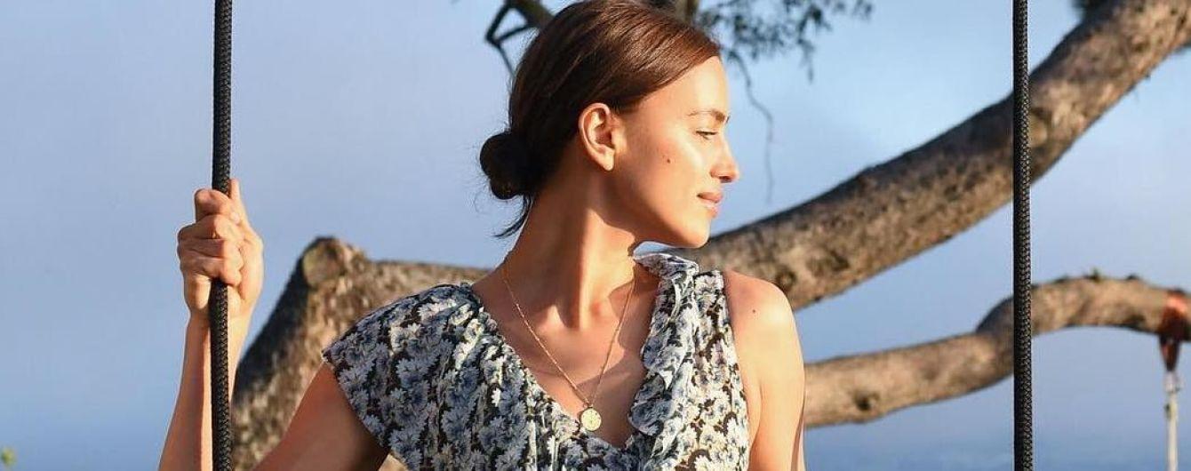 В цветочном платье: красивая Ирина Шейк на презентации коллекции H&M