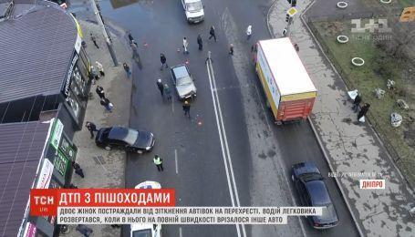 Дві автівки зіштовхнулись на перехресті у Дніпрі: є постраждалі