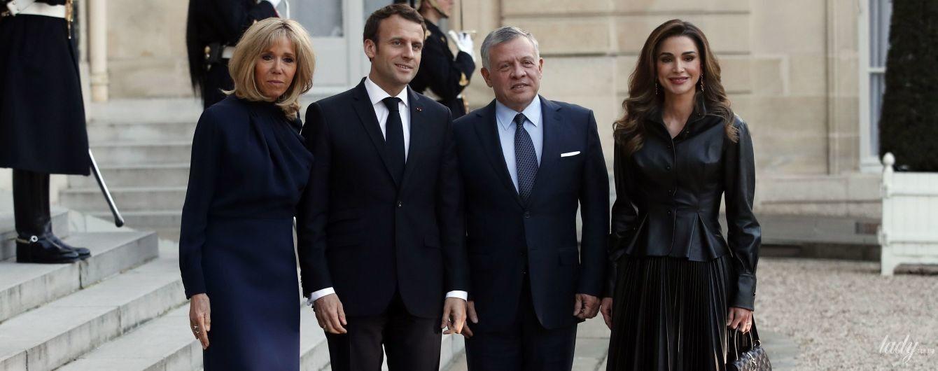 Стильна королева Ранія та елегантна Бріжит Макрон на урочистому заході у Франції
