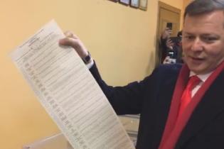 На Ляшко составили админпротокол за нарушение тайны голосования