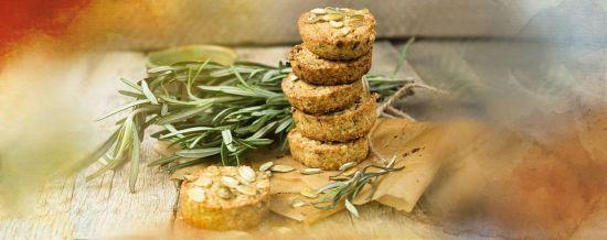 Печиво з розмарином та гарбузовим насінням