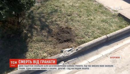 В Запорожье в результате взрыва гранаты погиб ребенок