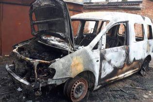 На Прикарпатті невідомі спалили автомобіль місцевого депутата