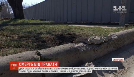 Двое подростков подорвались на гранате в Запорожье