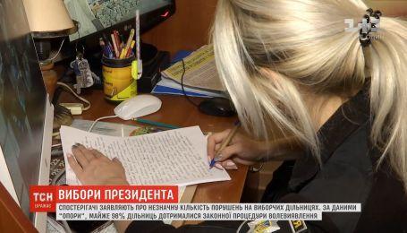 Спостерігачі заявляють про незначну кількість інцидентів на виборчих дільницях