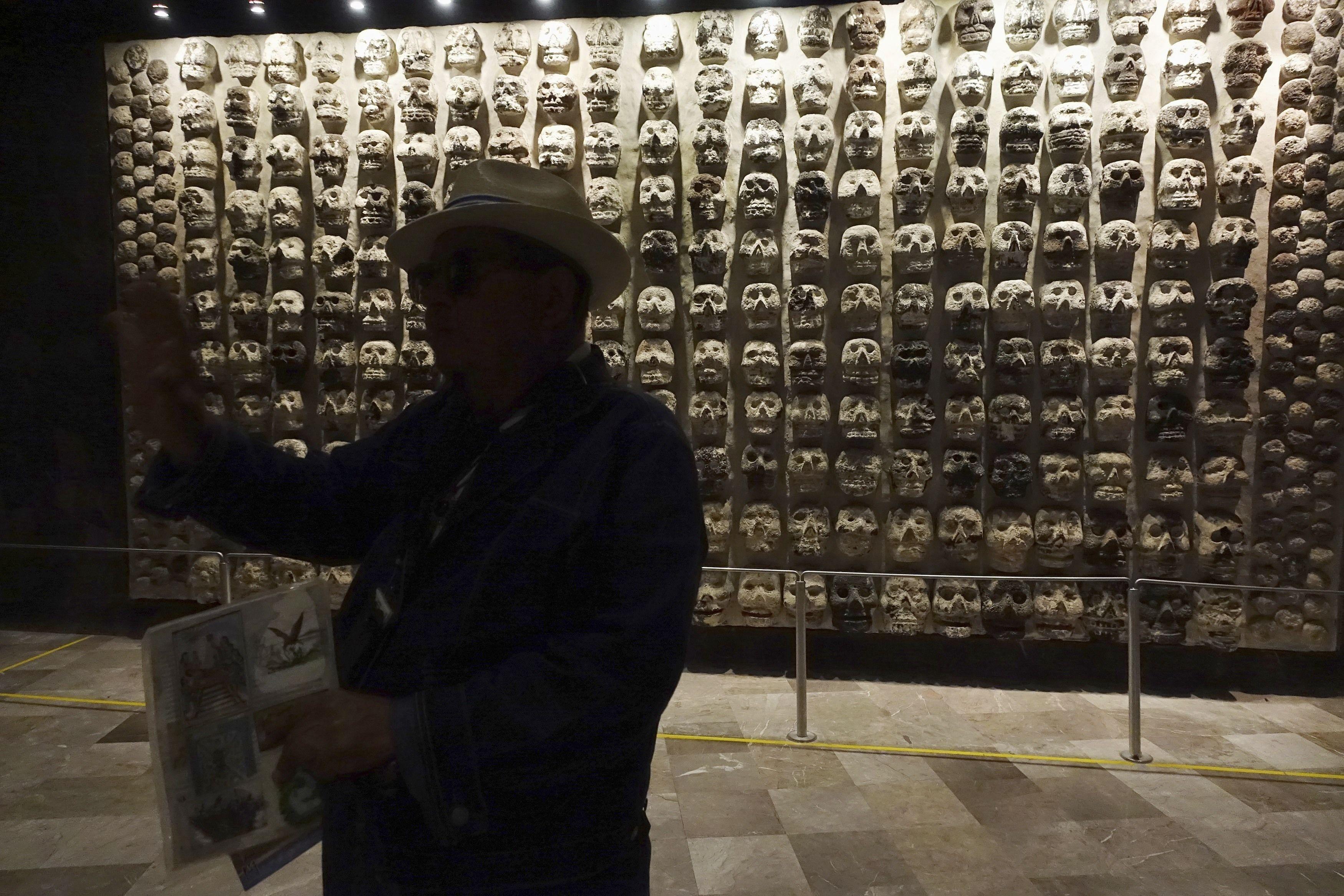Мексика, ацтеки, черепи