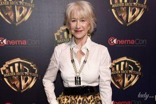 В тренде: 73-летняя Хелен Миррен приехала на премьеру фильма в леопардовой юбке