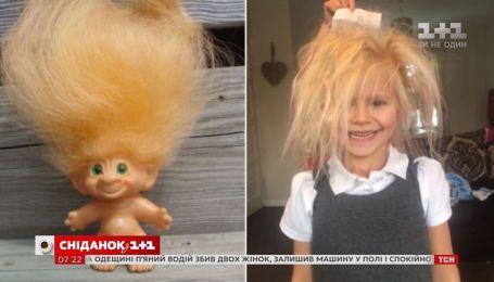 """В Британии живет девочка с уникальной генетической особенностью - синдромом """"непослушных волос"""""""