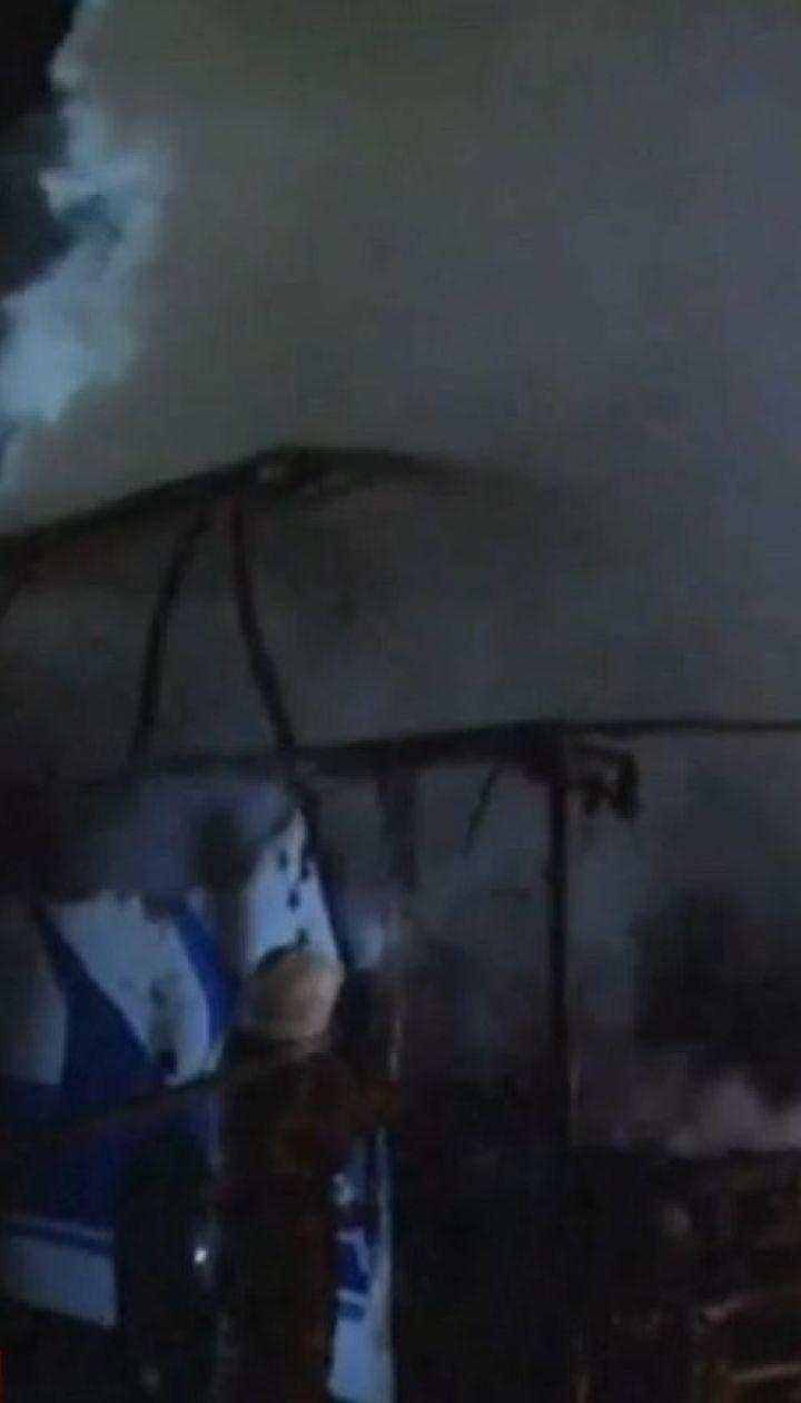 Во Львове сгорел дотла туристический автобус