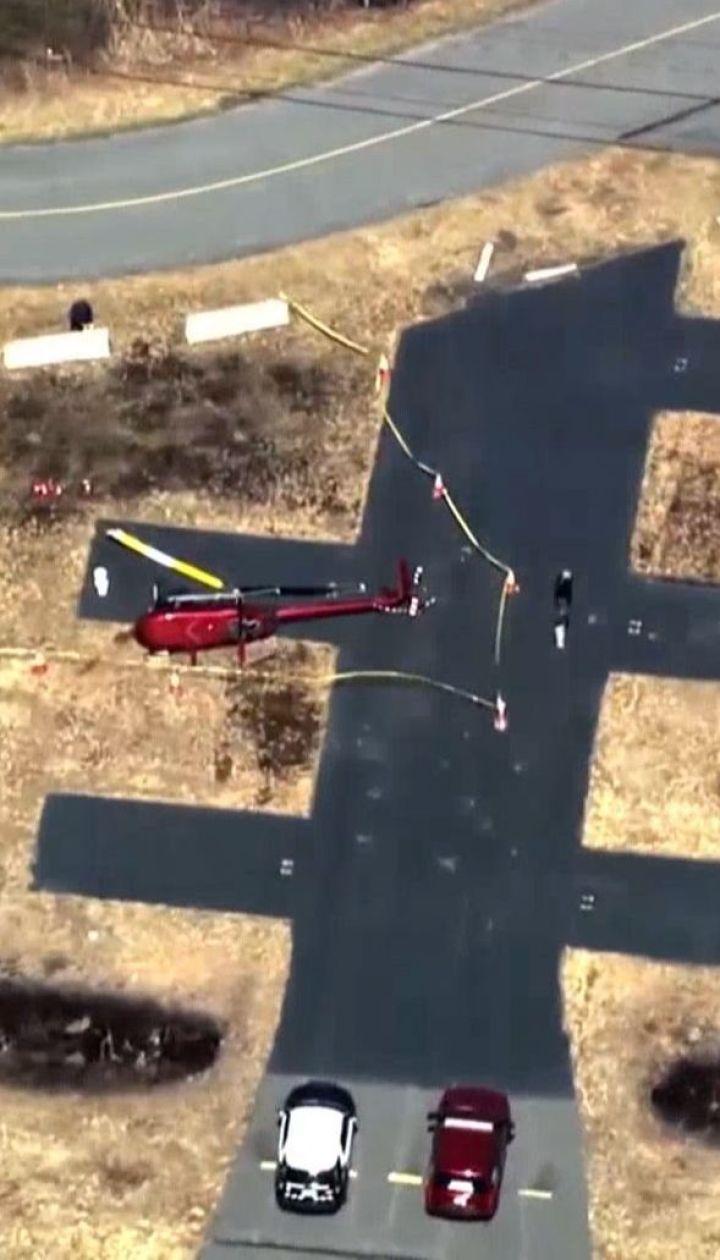 Вітер перекинув гелікоптер в американському штаті Массачусетс