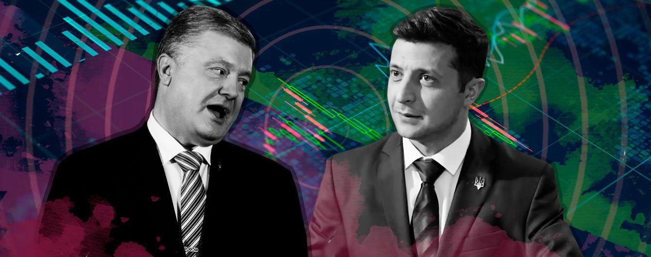 Зеленский vs Порошенко: все об официальных результатах первого тура выборов в пяти инфографиках
