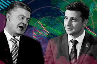 Зеленський vs Порошенко: усе про офіційні результати першого туру виборів у п'яти інфографіках