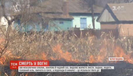 На Черниговщине мужчина на собственном огороде сгорел заживо, паля там сухую кукурузу