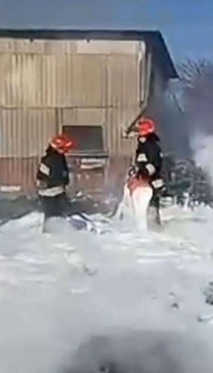 Крупный пожар произошел под Винницей