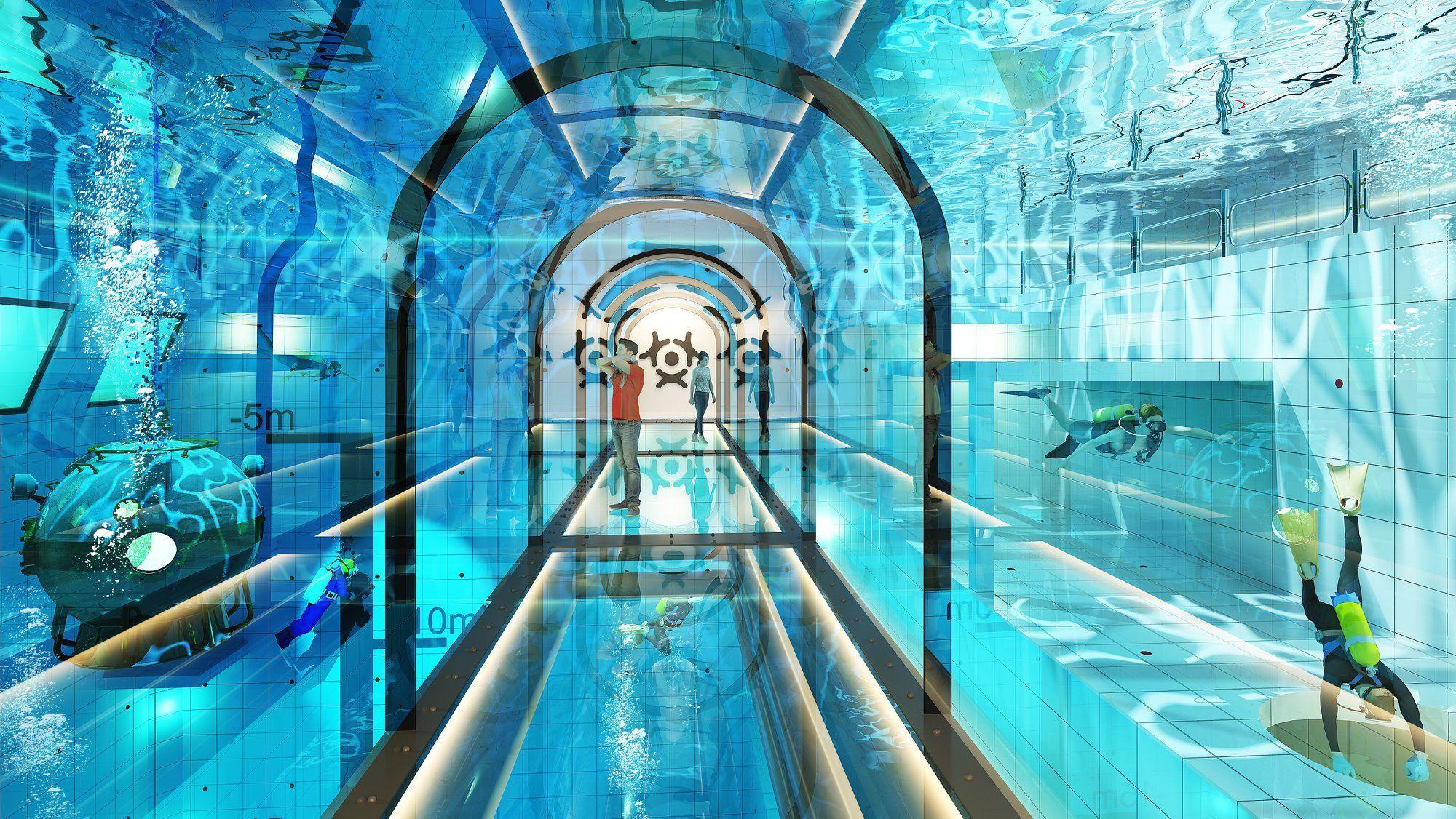 Deepspot. Самый глубокий бассейн в мире.
