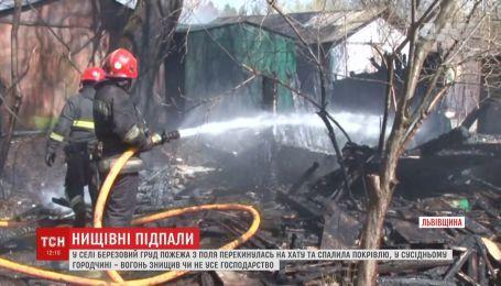 На Житомирщині палили суху траву, а згоріли два будинки