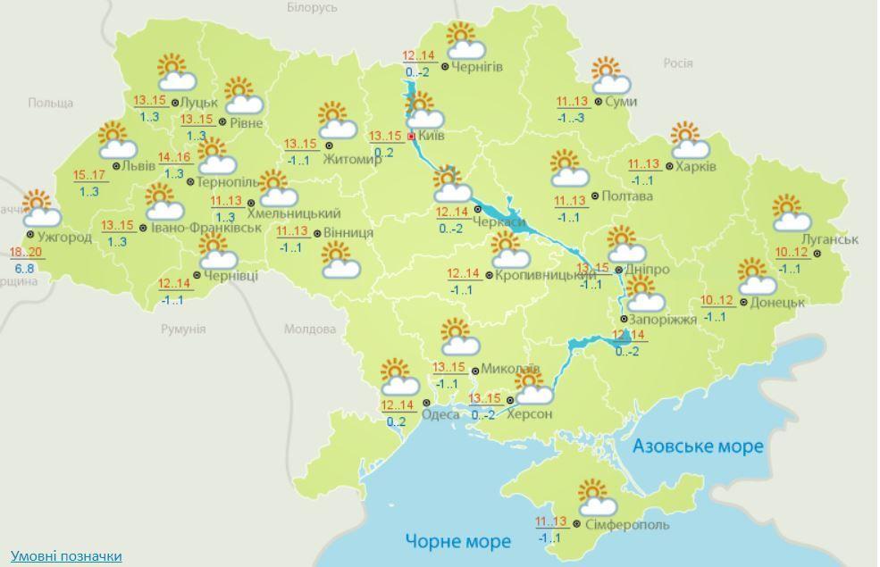 Погода на 5 квітня