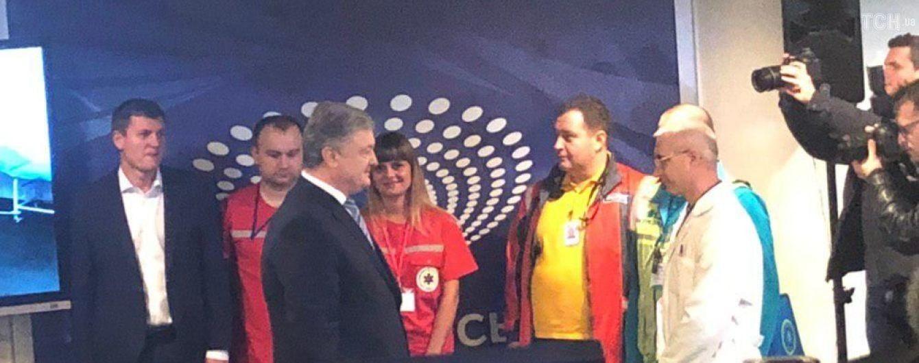 """Порошенко приехал на """"Олимпийский"""" для сдачи анализов"""