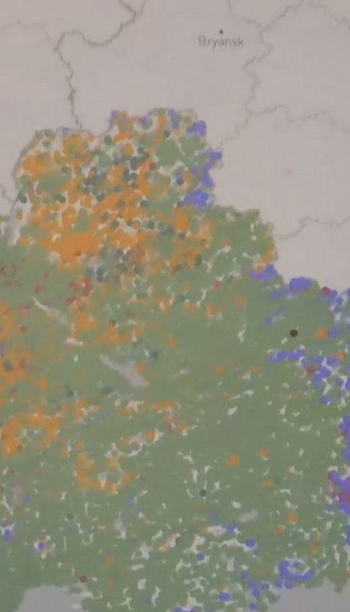 Карту виборчих уподобань українців створили в Мережі