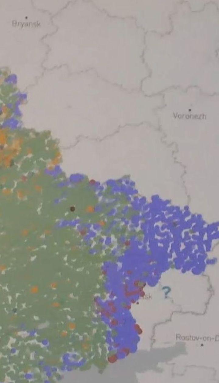Карту избирательных предпочтений украинцев создали в Сети