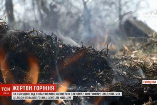 На Сумщине при поджоге сухостоя сгорела 81-летняя женщина
