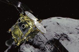 """Япония сбросила """"бомбу"""" на астероид. Обнародованы фото до и после удара"""