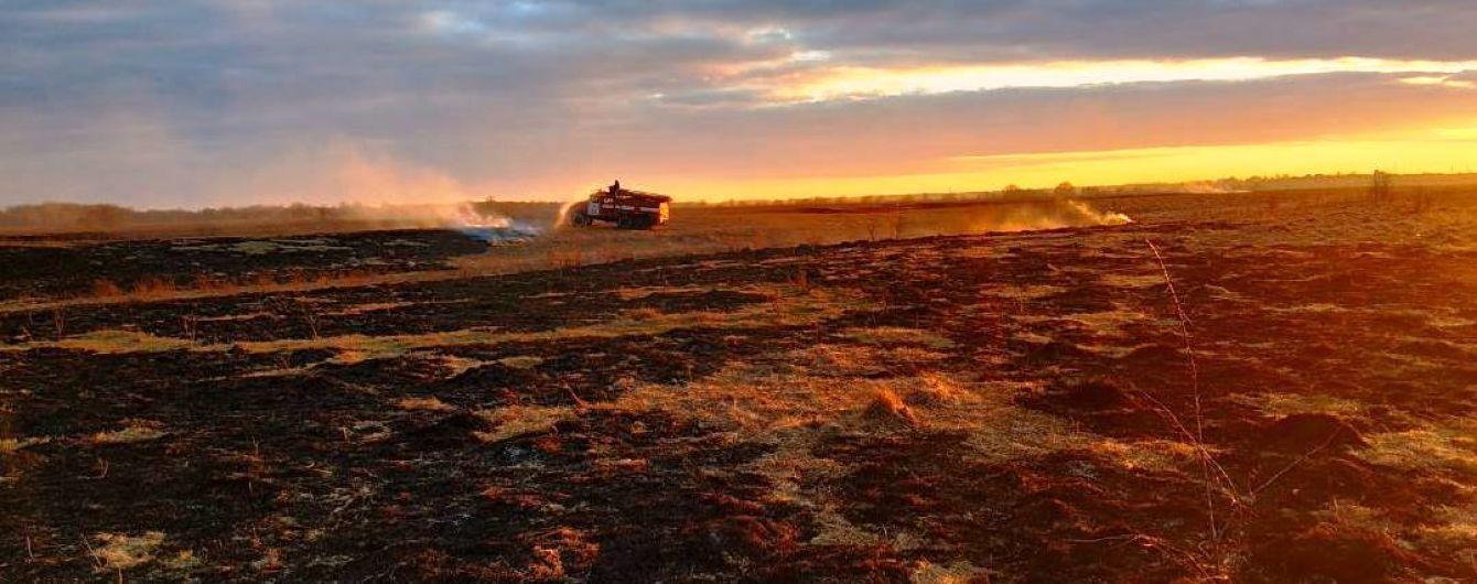 На Чернігівщині рятувальники з авіацією гасять пожежу на 40 га заповідника