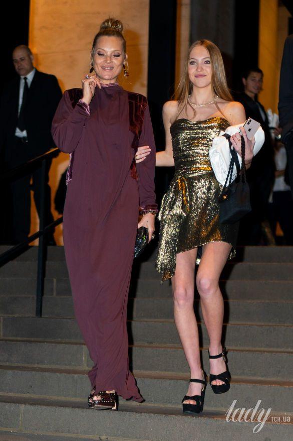 Кейт Мосс с дочерью Лилой