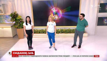 Хип-хоп и упражнения с полотенцем для подтянутых бедер от Ксении Литвиновой