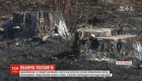 Щонайменше 12 людей загинуло у вогні від початку сезону прибирання перед Великоднем