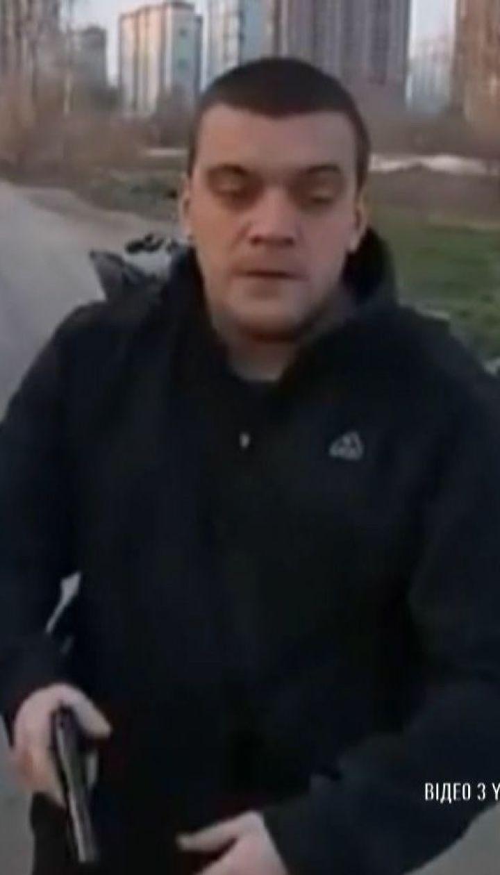 Действующий работник столичной полиции пистолетом пытался проучить квадроциклиста