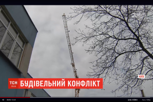 В Киеве строят многоэтажку за полтора метра от школы