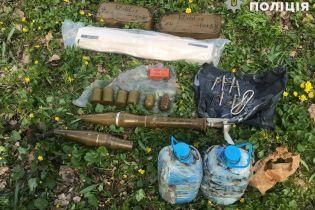 На Луганщине возле заброшенного детсада нашли арсенал оружия