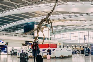 В аэропорту Лондона установили скелет динозавра